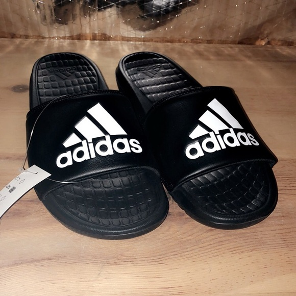 adidas Other - Men's black & White adidas slides